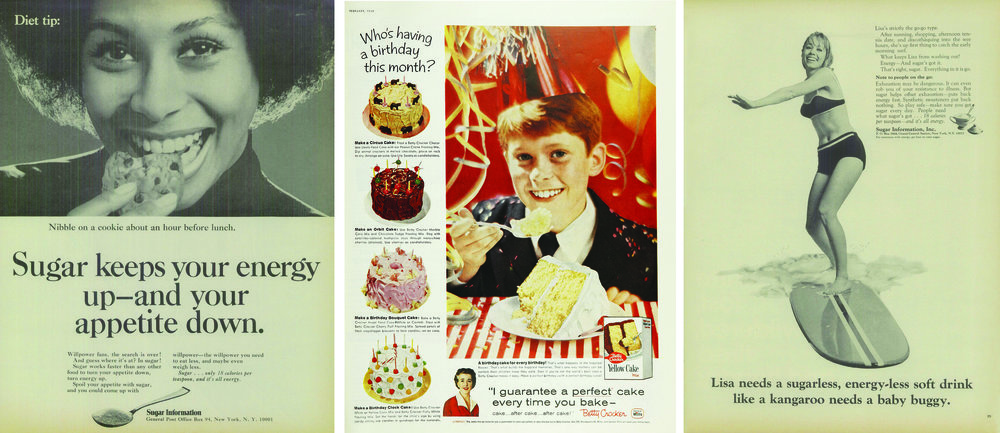 Advertisements by Sugar Information Inc. and Betty Crocker Yellow Cake Mix in Ladies Home Journal and Life (1959–1970)