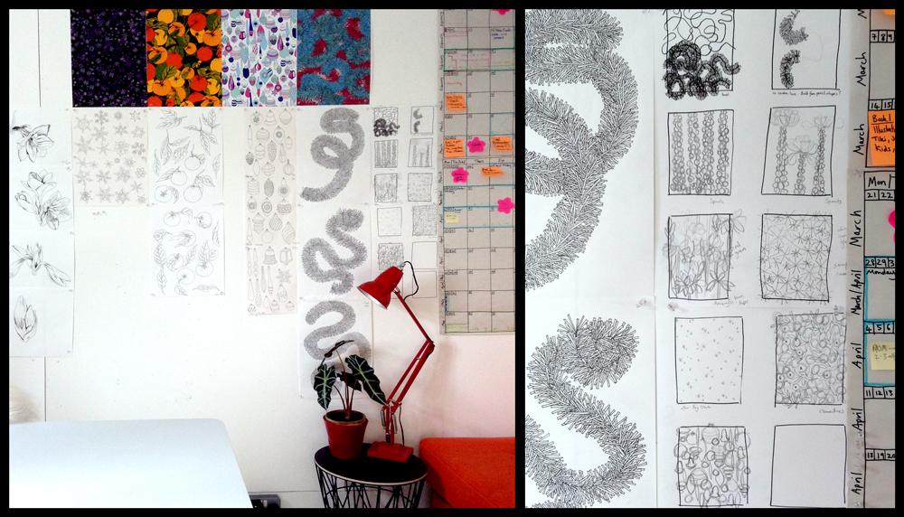 albaquirky studio wall
