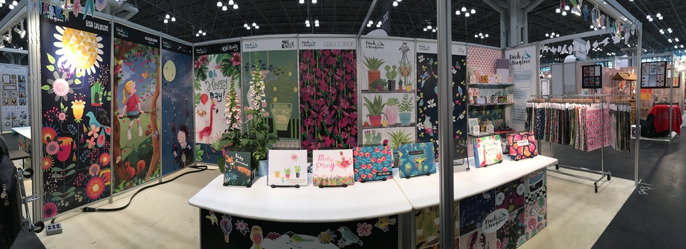 Finch & Foxglove's 2016 Surtex Booth