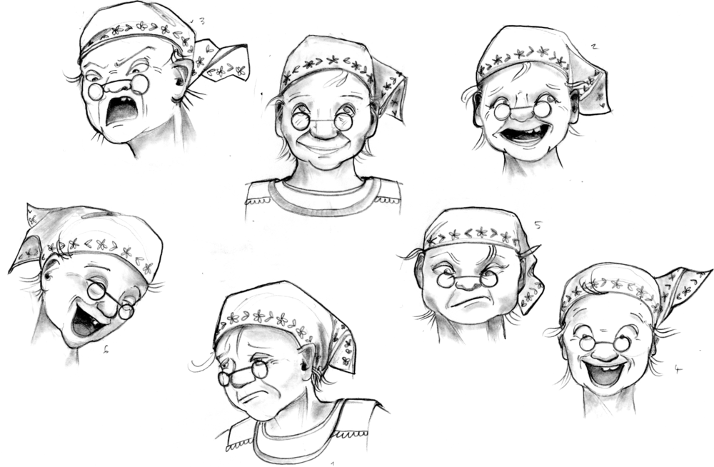 expressions old woman