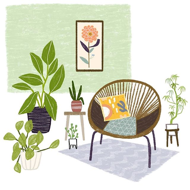 It's all about plants now! We need the grey sky, the rain and the snow to go away to make way for life, bloom and the lovely colour green! 🌱🌻🌼🌿🌵  Rain rain go away!!! Art by Laurence Lavallee @akaflo_  #houseplants #plantillustration #plants #indoorplants #plantlover #instaart #illustration #instaplants #houseplantsillustration #creativity #bohemianhouse #moreplants #green #indoorgarden #urbanjungle  #homedecor #houseplantsofinstagram