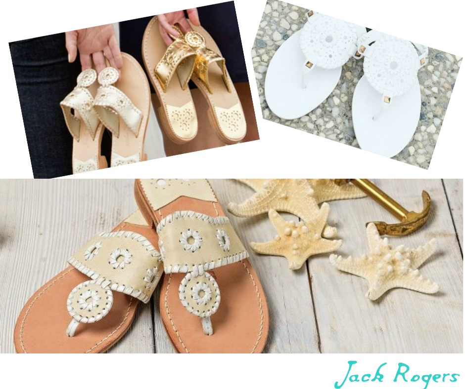 It was on one of these Italian holidays that Jackie first met the shoe style that would become the Classic Jack Rogers Sandal, a flat sandal characterized by whipstitched leather and an iconic rondelle. On her return to Palm Beach, Jackie brought the shoe to a local cobbler and an icon was born. Easy and elegant, it quickly became a warm weather essential for women of all ages—not to mention their sisters, best friends and daughters.