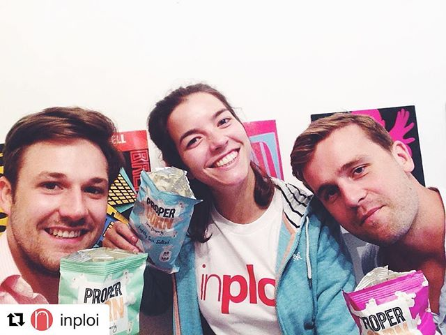 #teaminploi loving @propercorn! #popcorn #love #yummy #instagood #instafood #inploihq #officelife #snacks