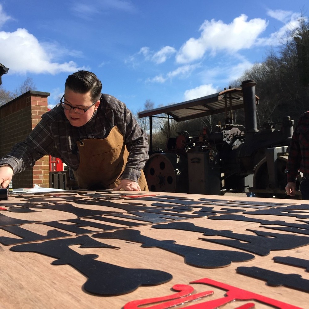 I took part in Ditchling Museum of Art + Craft 'The Big Steam Print' where I got to produce my largest print ever which measured 1 x 2 metres and than ran over it with a 12.5 ton vintage steam roller!! The day couldn't have been more perfect!