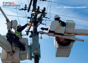 MJM Electric keeps up with the times by improving its electric distribution lines and technology.