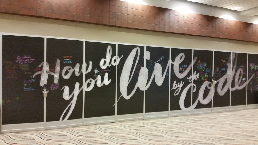 """How do you live by the code"" mural"