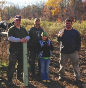 "Dave and daughter Olivia volunteer their time to help restore land near Little Fishing Creek as part of the ""Adopt-a-Farm"" program."