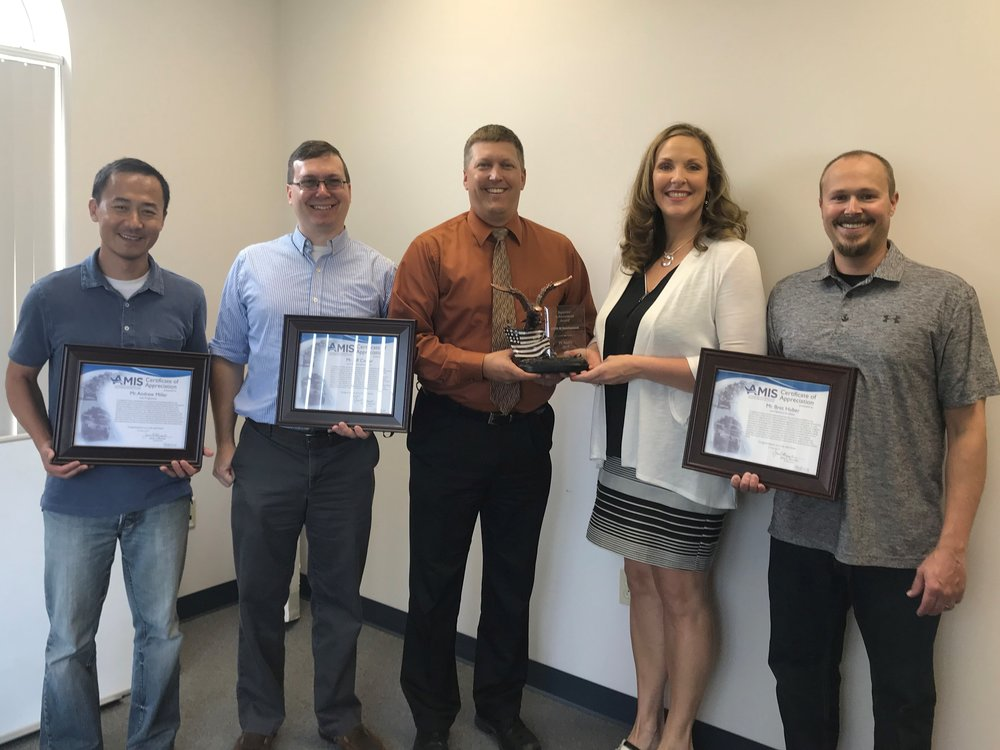 Jay Ross; Jeff Carter, a sub-consultant with Aegis Strategies, LLC; Steve Kraabel; Debra Houser; Bret Huber; not pictured, Andrew Miller.