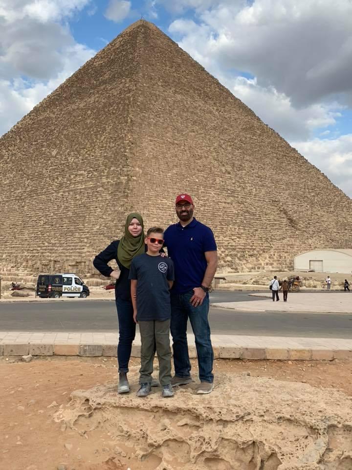 Hany Hassaballa and his family celebrating the holidays in Egypt!