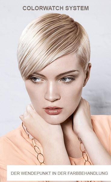 Das revolutionäre  COLORWATCH SYSTEM begleitet Sie zuverlässig durch den Colorations- bzw. Blondierungsprozess und wirkt möglichen Haarschädigungen sofort entgegen.    » Wiederherstellung von gebrochenen Brücken im Haar bzw. neue Brücken werden gebildet » Regeneration der durch die Coloration beschädigten Haarstruktur » Schutz vor möglichen Haarschädigungen durch Blondierungen und Colorationen » Stärkung und Vitalisierung der Haarstruktur » Verlängerte Haltbarkeit der Haarfarbe    Egal ob Coloration oder Blondierung – freuen Sie sich auf perfekte Farbergebnisse, ohne sich Gedanken über Ihren Haarzustand machen zu müssen!