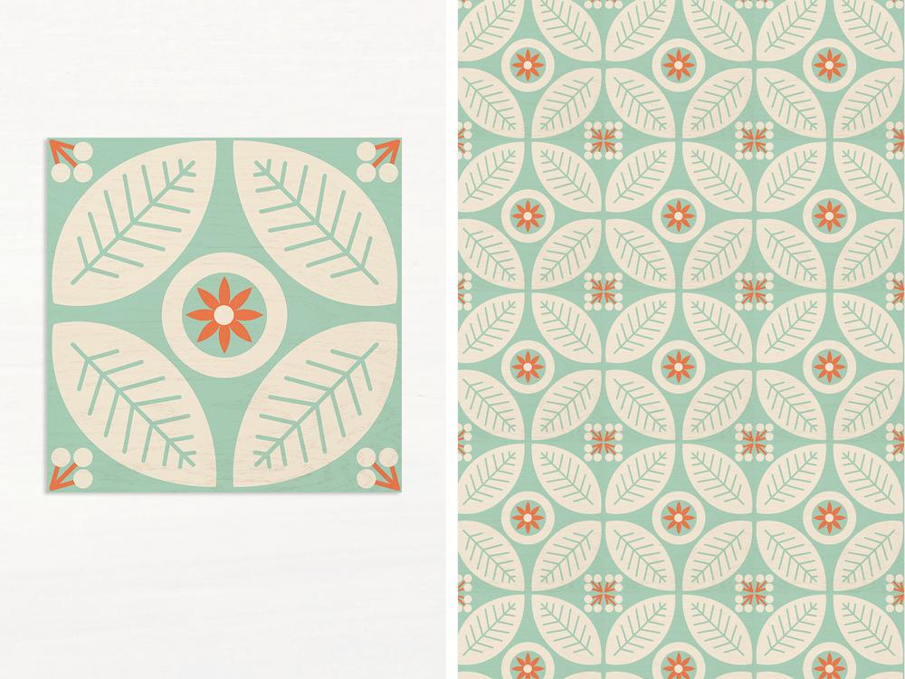 Flower Folk tiles > View on Mirth website