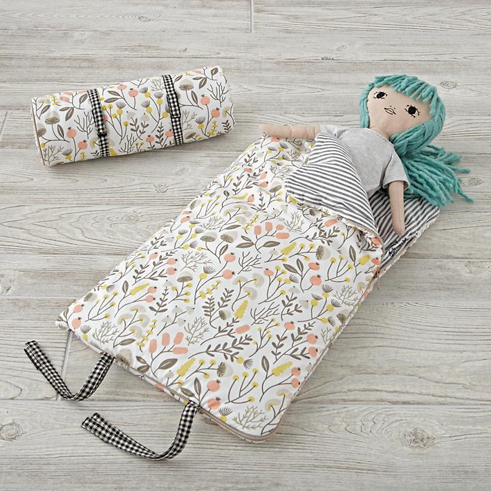 A sleeping bag for your dolls — because even dolls need a good night's rest.