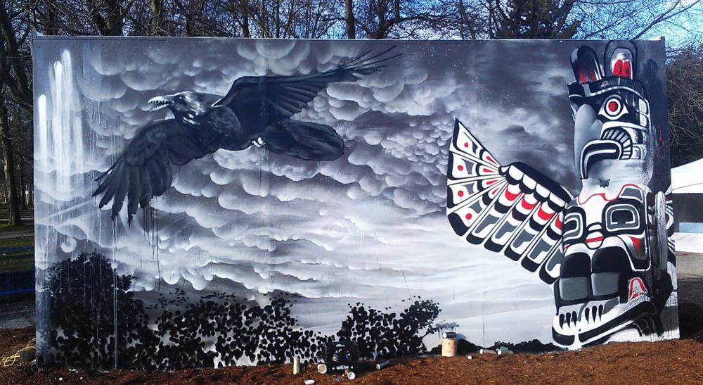 Thunderbird Mural by Vince Dumoulin