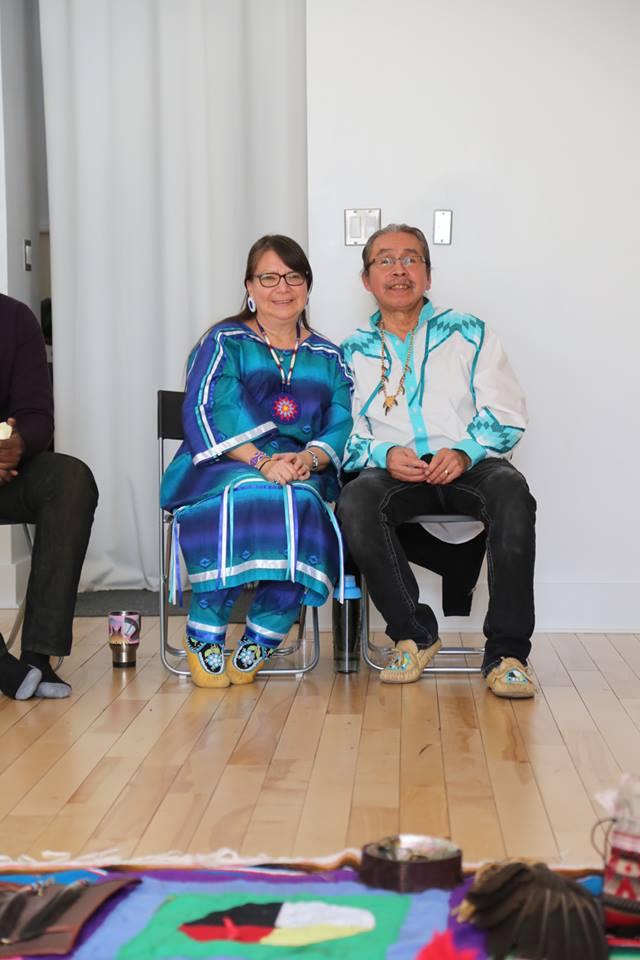 Elders Jean Stevenson and Delbert Sampson