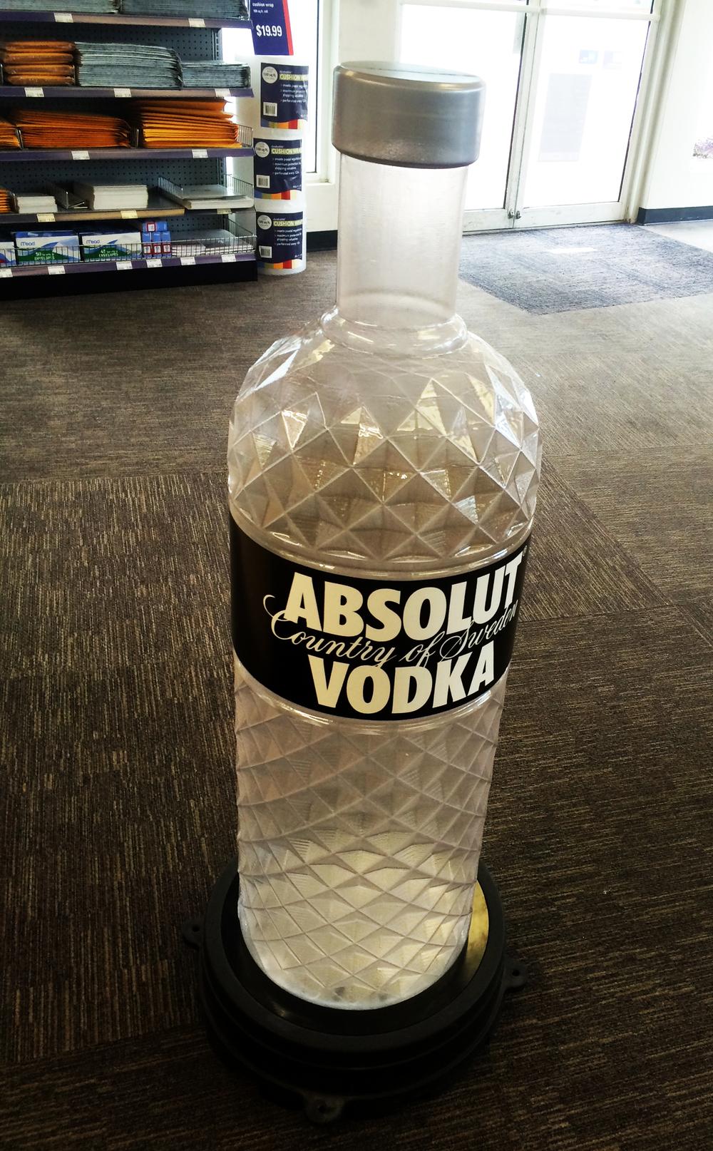 Vacuum form Absolut Vodka Bottle