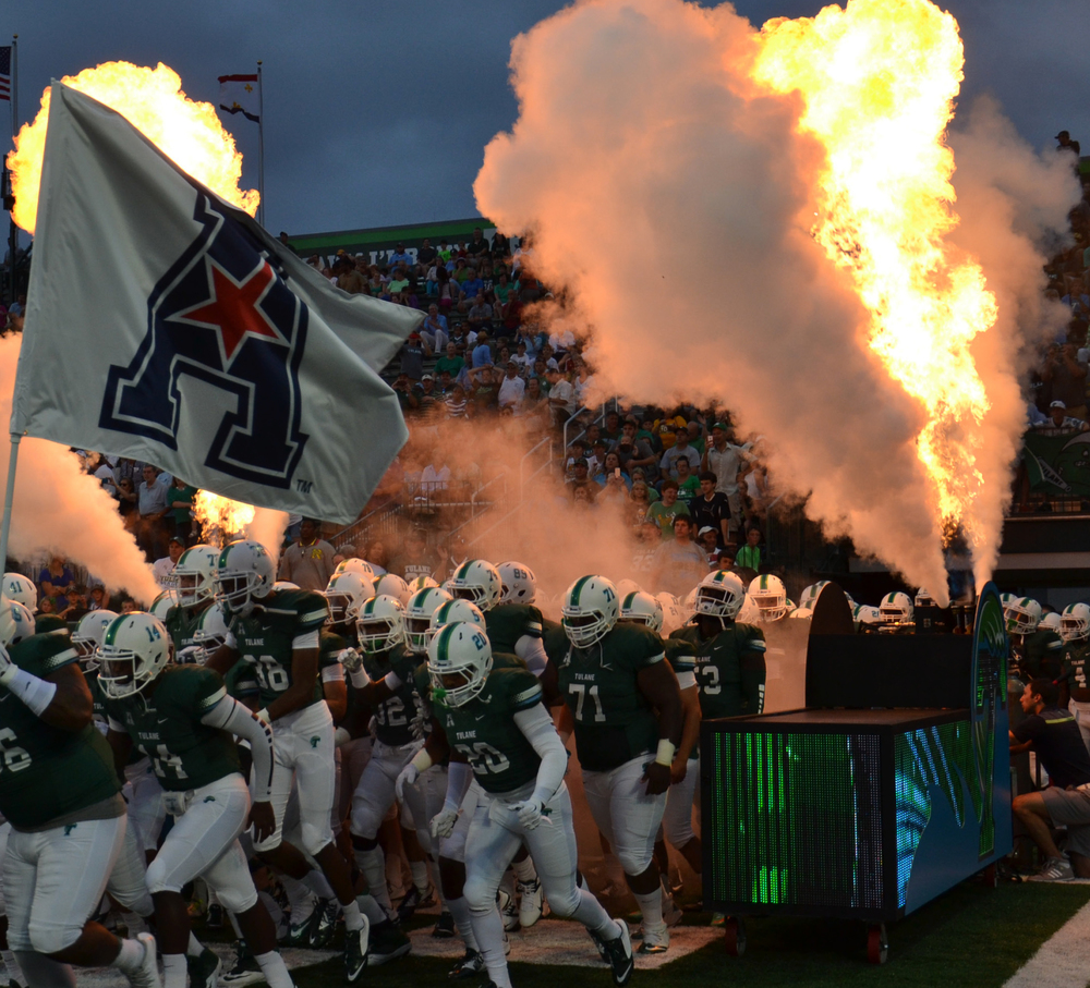 Special effects for Tulane Football Game