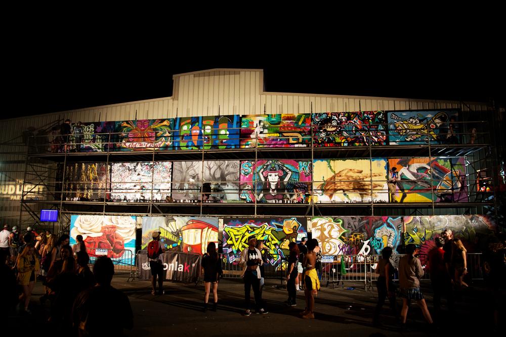 Graffiti Wall at Buku Music + Art Project 2016