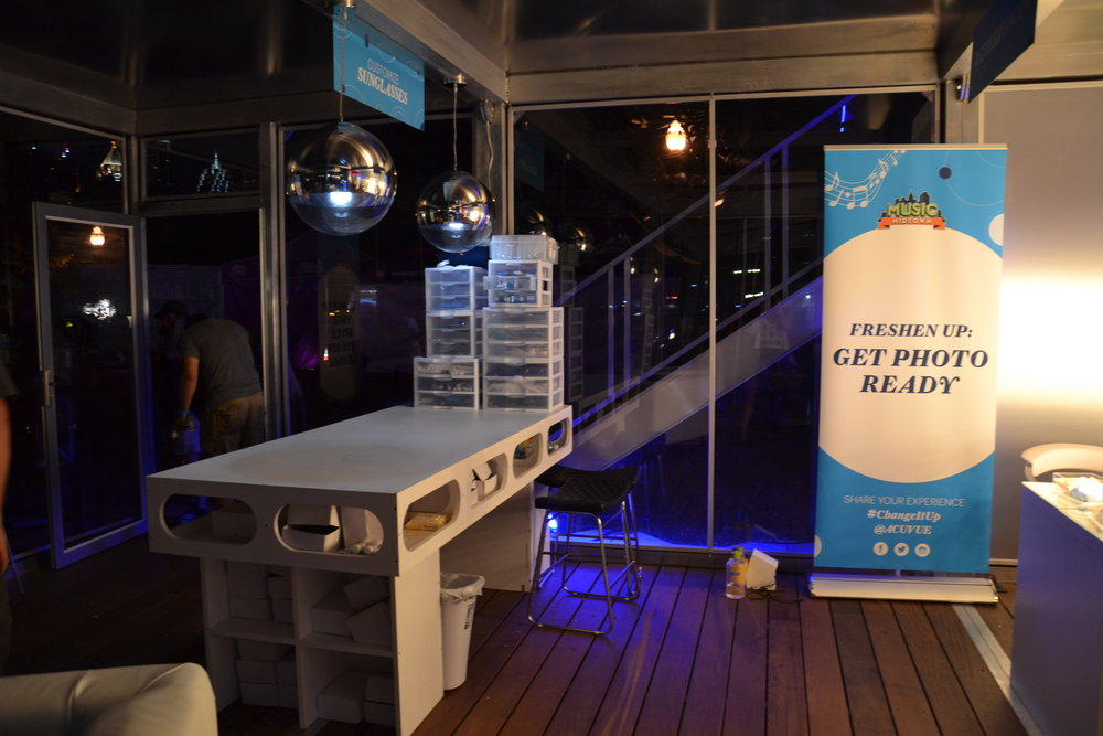 Interior of Acuvue Activation at Music Midtown 2016