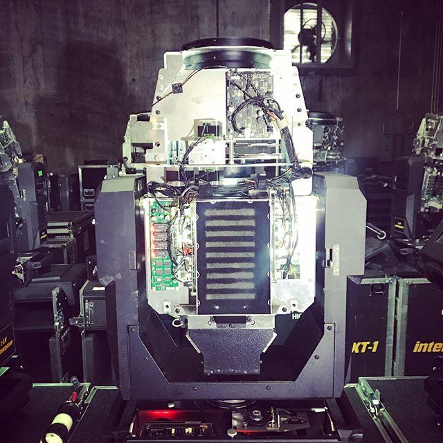Moving Light Surgery 💉 #werepairlight #engineer #engineering #light #spotlight #stage #design #rental