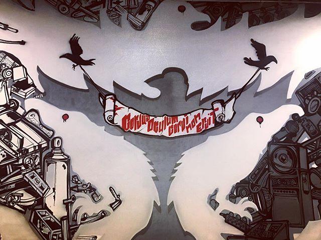 Corvus Oculum Corvi Non Eruit #raven #latin #graffiti #artist #production #design #fabrication #engineering #show #event #nola #louisiana