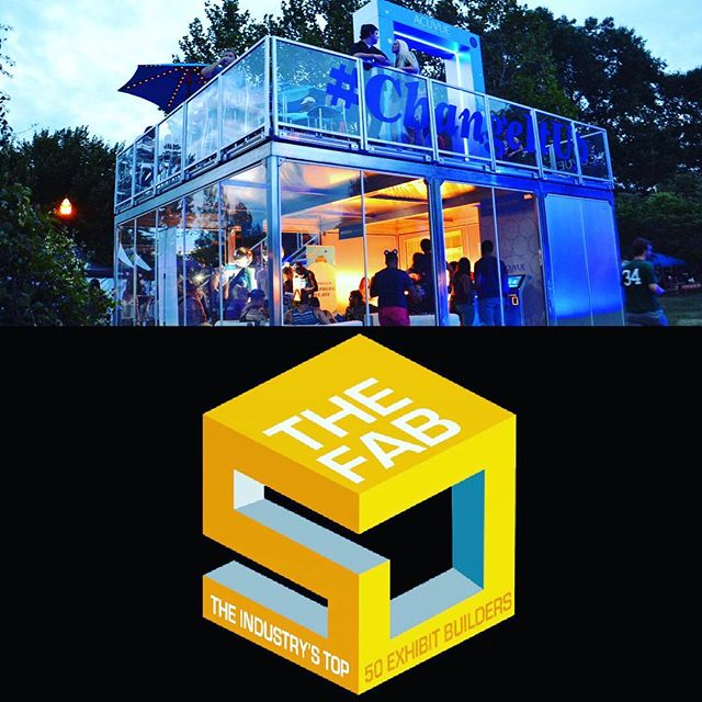 Stoked to be part of the @eventmarketer FAB 50 best fabricators! #event #fabrication