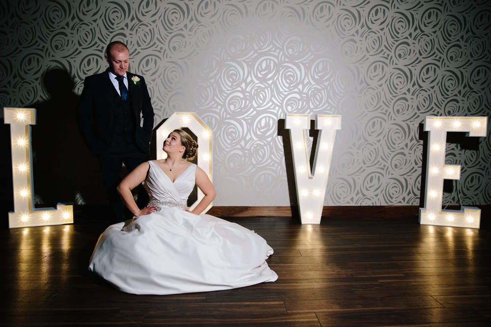 Elizabeth and David at Colshaw Hall