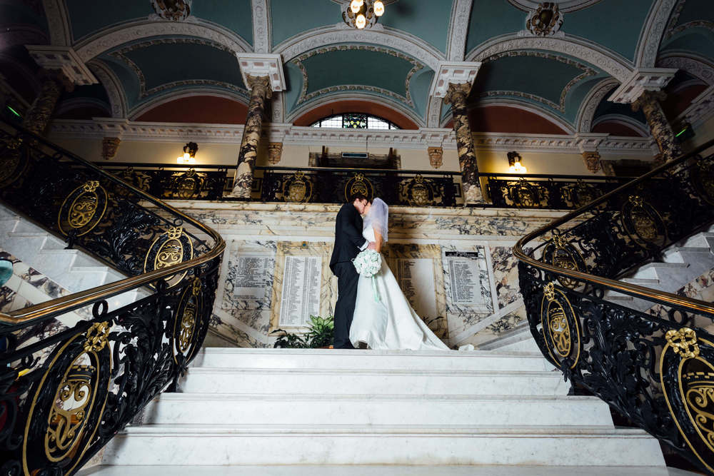 Heather and Shaun at Stockport Town Hall