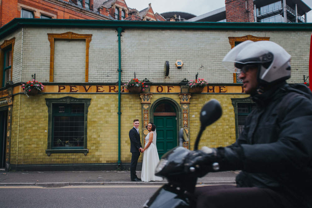 'Passer-by' - 'Peveril of The Peak Pub' Manchester Wedding Photography