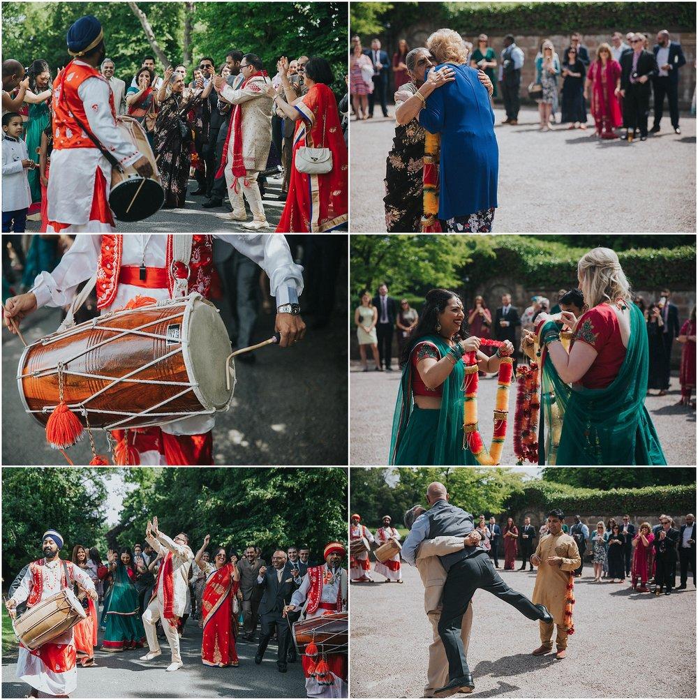 INGLEWOOD MANOR WEDDING PHOTOGRAPHY INDIAN MILNI CEREMONY