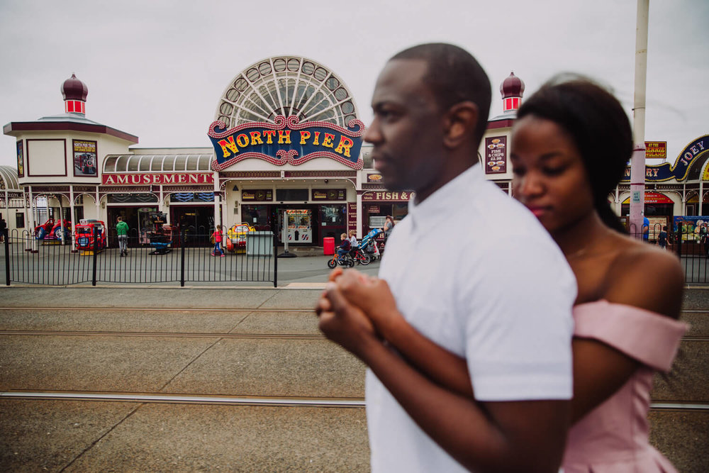 MANCHESTER WEDDING PHOTOGRAPHER STEPHEN MCGOWAN BLACKPOOL WEDDING ENGAGEMENT SHOOT TAPIWA AND SHAMAIN 35.jpg