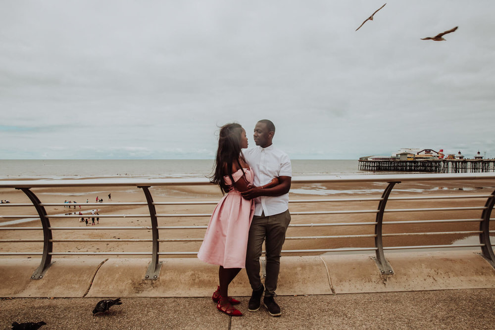 MANCHESTER WEDDING PHOTOGRAPHER STEPHEN MCGOWAN BLACKPOOL WEDDING ENGAGEMENT SHOOT TAPIWA AND SHAMAIN 11.jpg
