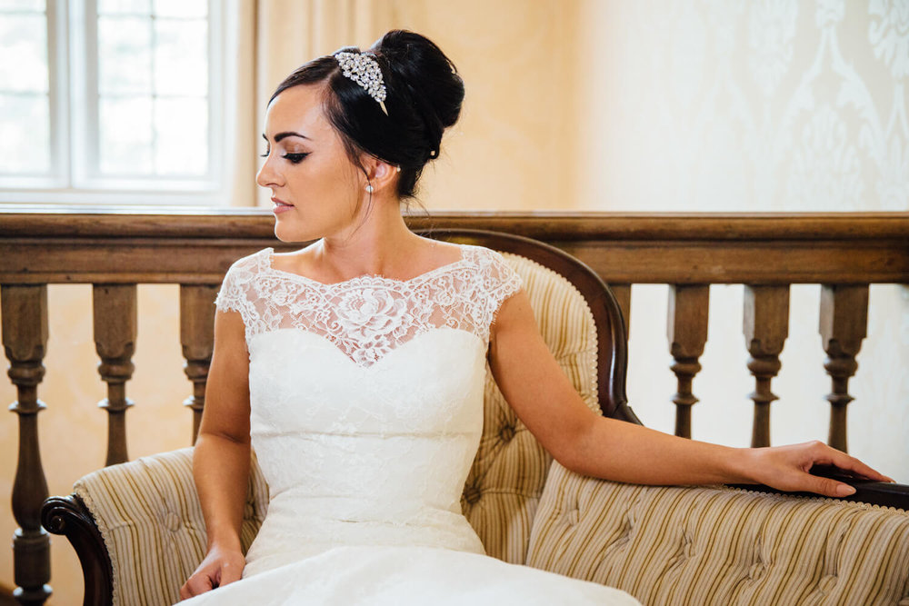 portrait of bride on chair