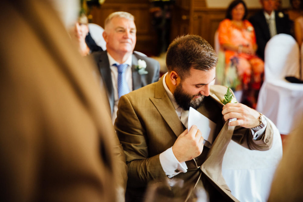 best man takes care of wedding certificate