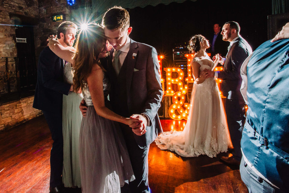 intimate bridesmaid dance