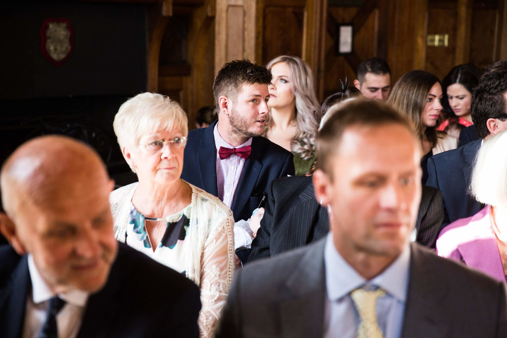 guests looking on during ceremony