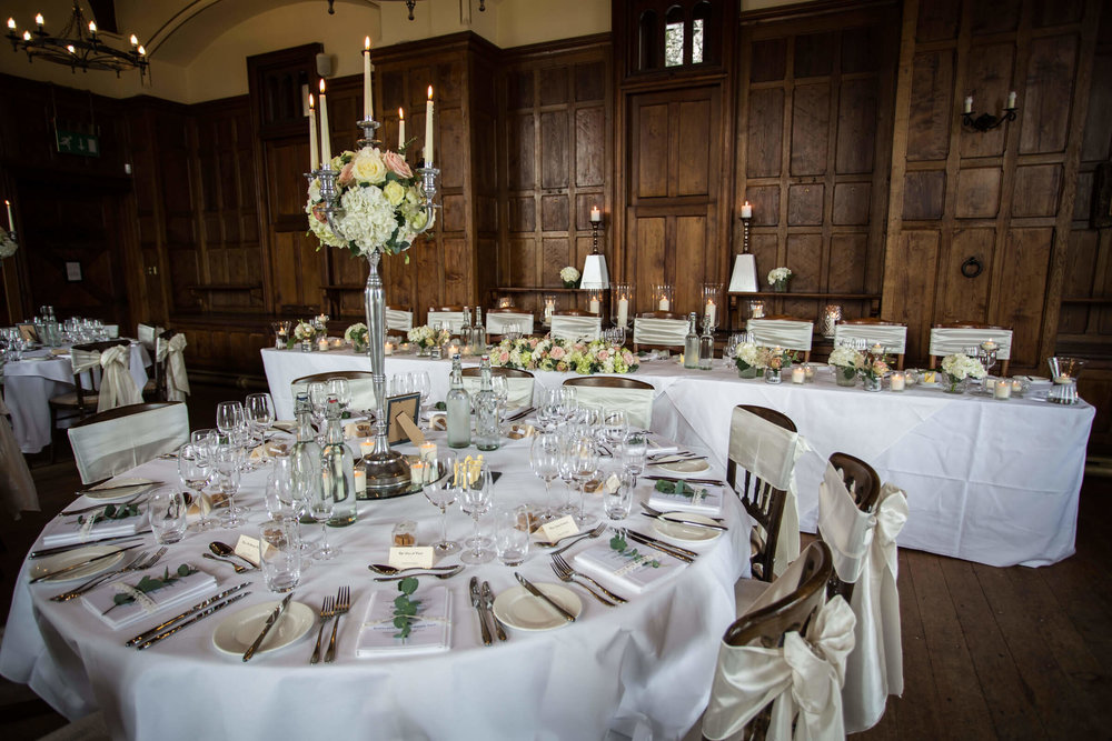 top table of wedding breakfast room