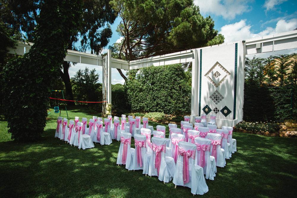 outdoor wedding ceremony at vilamarques