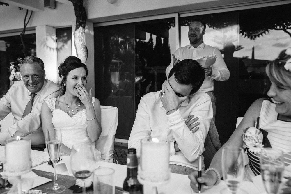 groom embarrassed by best man speech