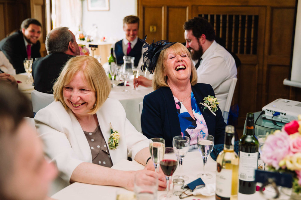 mothers laughing at bride speech