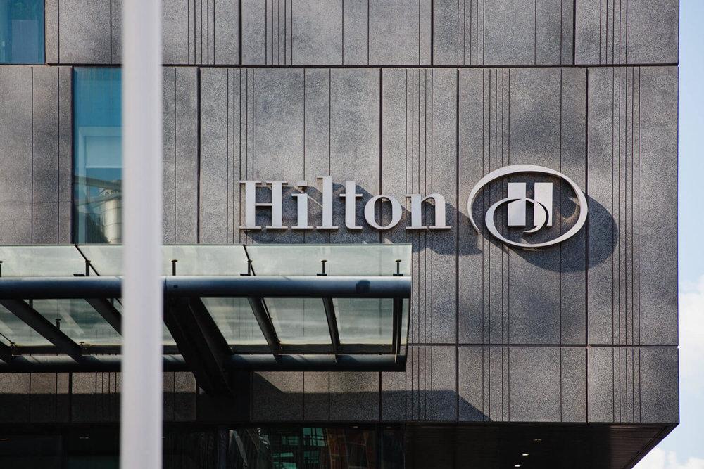 hilton hotels sign