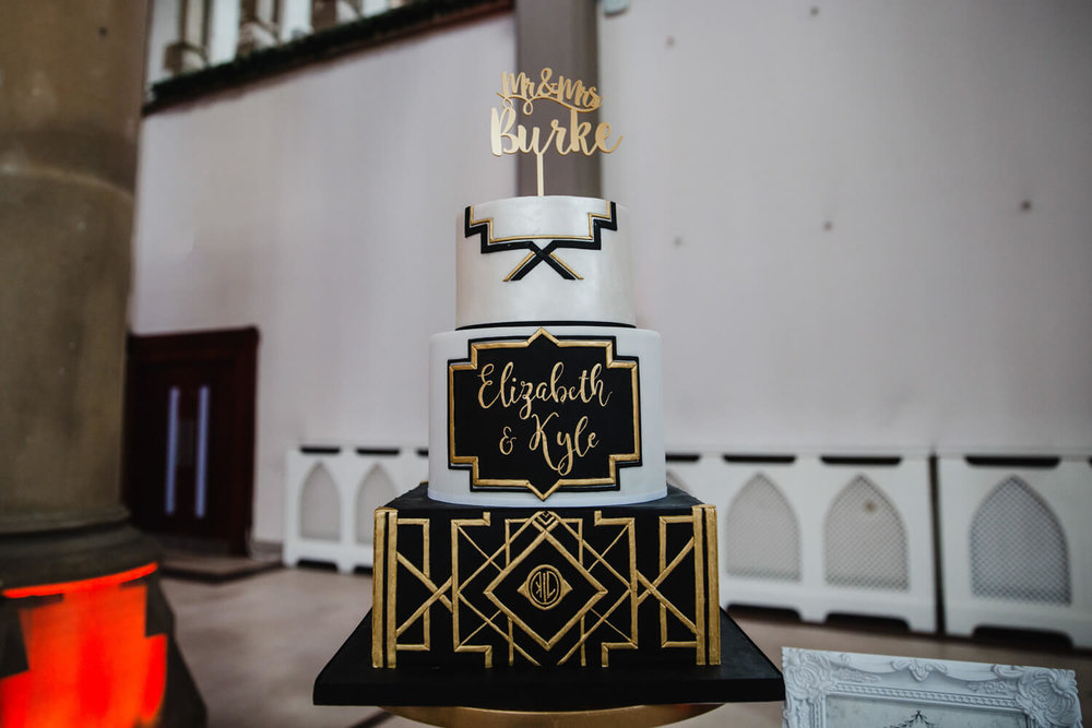 great gatsby art deco themed cake made by marie antoinette cakes