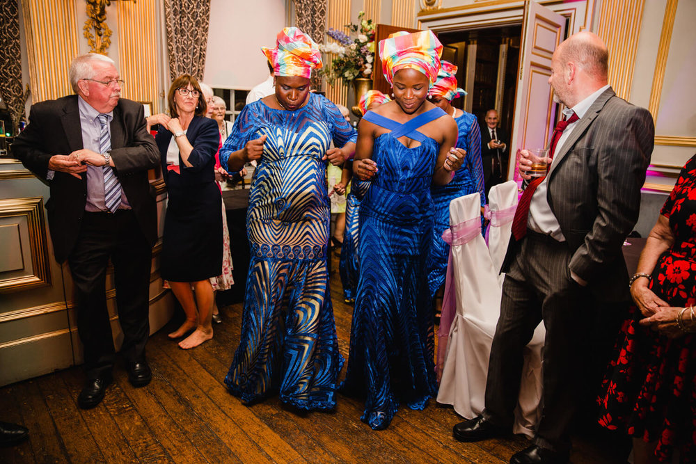 Traditional African Dancing for wedding at Knowsley Hall