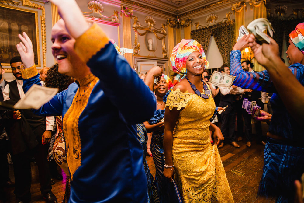 Traditional African Wedding Money Dance at Knowsley Hall
