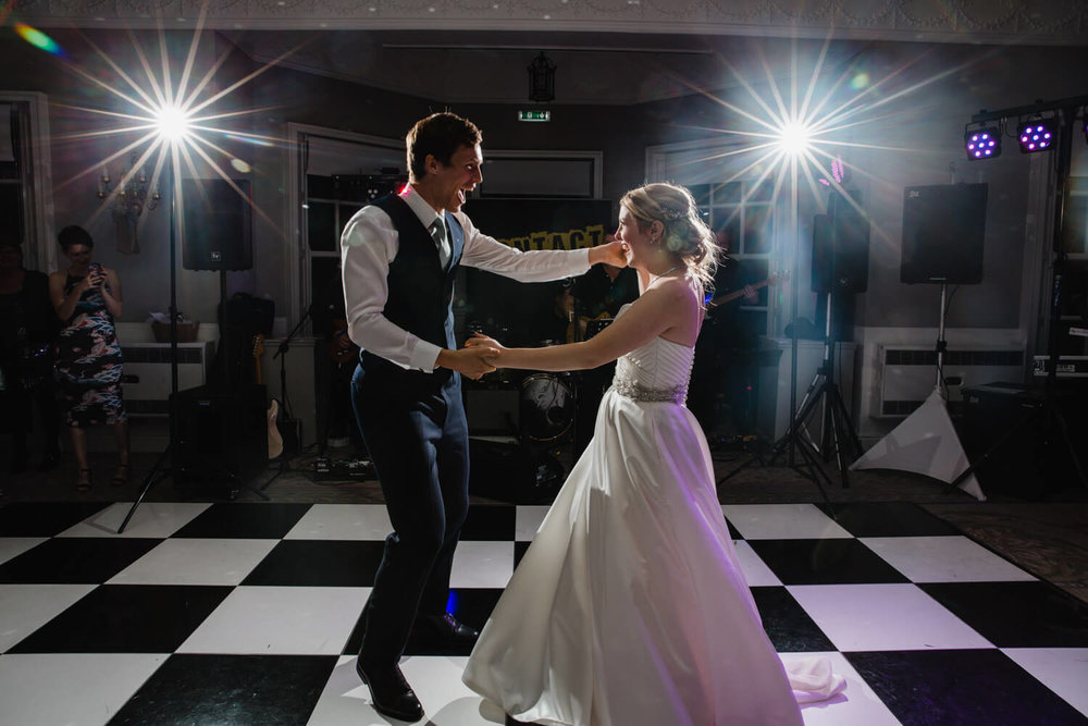 first dance for wedding at Statham Lodge