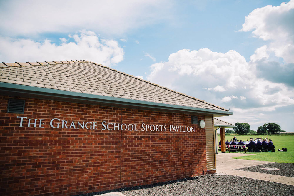 photograph of the grange school sports pavillion in hartford