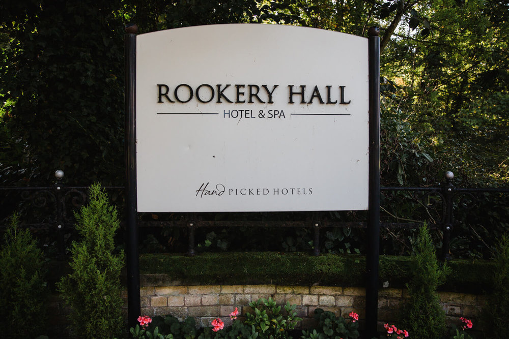 rookery hall venue sign