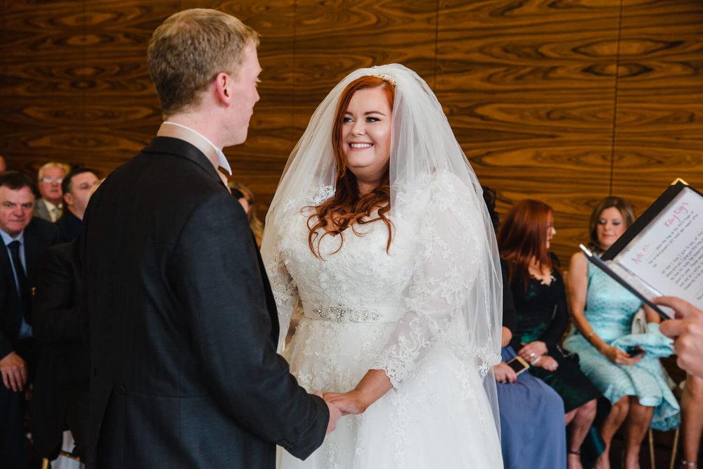 wedding vows being spoken