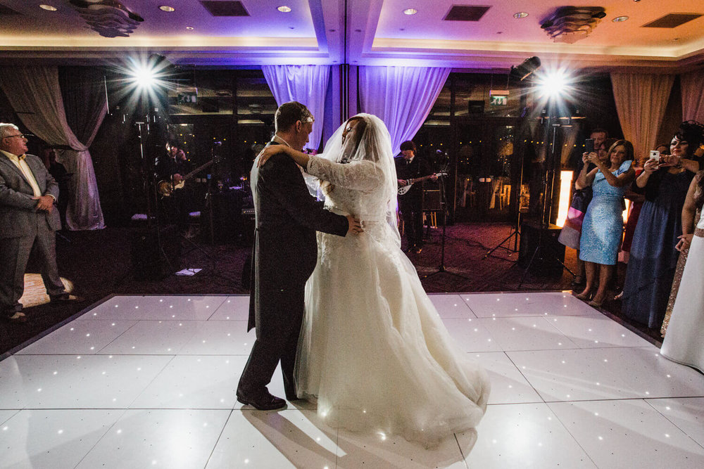 newlyweds first dance on floor