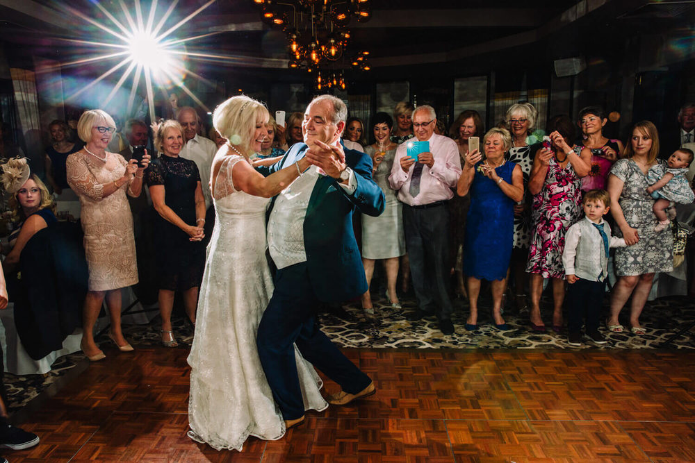 first dance waltz in front of friends and family