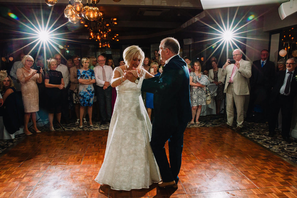 first dance in middle of floor